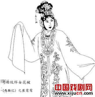 京剧服饰图样手绘